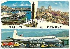 ALITALIA- 1960 VICKERS VISCOUNT I-LIRE AT GENOVA AIRPORT