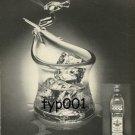 OLD BUSHMILLS WHISKY - 1976 THE SKIER GLASS BY HENRY HALEM PRINT AD