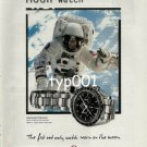 OMEGA - 1999 THE MOON WATCH - THE FIRST & ONLY WATCH WORN ON THE MOON PRINT AD
