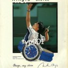 OMEGA - 1999 MARTINA HINGIS' CHOICE PRINT AD - TENNIS STAR