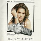 OMEGA - 1999 CINDY CRAWFORD'S CHOICE PRINT AD - FASHION SUPERSTAR
