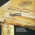 BENSON & HEDGES - 1975 - A REFLECTION OF THE FINEST THINGS  PRINT AD - 01
