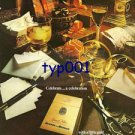 BENSON & HEDGES - 1975 - CELEBREATE A CELEBRATION WITH A LITTLE GOLD PRINT AD