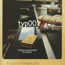 BENSON & HEDGES - 1975 - HIGH RECOMENDED BY INVESTORS  PRINT AD