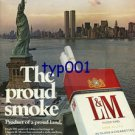 L&M - 1976 - THE PROUD SMOKE PRINT AD - STATUE OF LIBERTY & WTC TOWERS