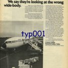 AIRBUS INDUSTRIE - 1976 - SOME ARE AFRAID OF WIDE BODY ECONOMICS PRINT AD - TEA