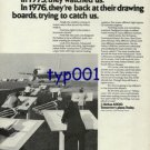 AIRBUS INDUSTRIE - 1976 - U.S. MANUFACTURERS ARE TRYING TO CATCH US PRINT AD