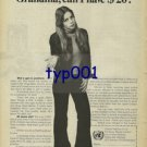 UNITED NATIONS FUND FOR DRUG ABUSE CONTROL '76 GRANDMA CAN I HAVE A $20 PRINT AD