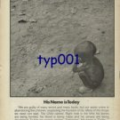 UNICEF - 1976 - HIS NAME IS TODAY PRINT AD
