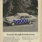 MERCEDES BENZ - 1976 ECONOMY THROUGH DYNAMIC POWER PRINT AD