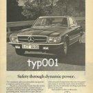 MERCEDES BENZ - 1976 SAFETY THROUGH DYNAMIC POWER PRINT AD