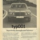 MERCEDES BENZ - 1976 SUPERIORITY THROUGH TOTAL BALANCE PRINT AD