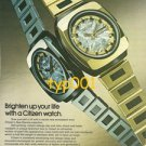 CITIZEN - 1975 - BRIGHTEN UP YOUR LIFE WITH A CITIZEN WATCH PRINT AD