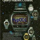 CITIZEN - 1976 - GALAXY OF QUARTZ WATCHES CRYSTRON PRINT AD - 01