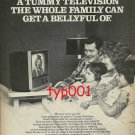 SONY - 1976 - TUMMY TELEVISION THE WHOLE FAMILY CAN GET A BELLYFULL OF PRINT AD