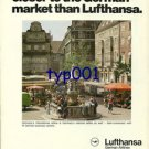 LUFTHANSA - 1976 - NOTHING CAN GET YOU CLOSER TO THE GERMAN MARKET  PRINT AD