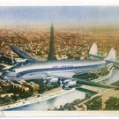 AIR FRANCE - 1950 CONSTELLATION OVER PARIS POSTCARD