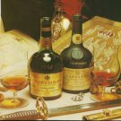 COURVOISIER COGNAC - 1975 THE BRANDY OF NAPOLEON PRINT AD