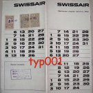 SWISSAIR - 1962 - COMING EVENTS CALENDAR IN TURKISH RARE!