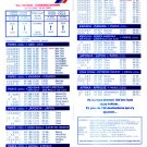AIR FRANCE - 1996 - WINTER TIMETABLE IN TURKISH