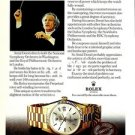 ROLEX - 1976 - ANTEL DORATI CONDUCTING WNSO PRINT AD - ROLEX DAY DATE