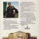 ROLEX - 1976 - FREDERICK FORSYTH THE NOVELIST PRINT AD -  ROLEX DAY DATE