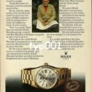 ROLEX - 1979 - HOW YEHUDI MENUHIN KEEPS TIME PRINT AD - ROLEX DAY DATE