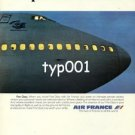 AIR FRANCE - 1979 - LA PREMIERE CLASSE PRINT AD