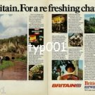 BRITISH AIRWAYS - 1979 - BRITAIN FOR A REFRESHING CHANGE PRINT AD
