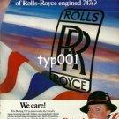 BRITISH AIRWAYS - 1979 - QUIET LUXURY OF ROLLS ROYCE ENGINED B747S PRINT AD