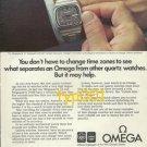 OMEGA - 1975 - MEGAQUARTZ WATCHES PRINT AD - 1976 INSBRUCK & MONTREAL OLYMPICS