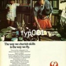 JAL JAPAN AIR LINES - 1979 THE WAY WE CHERISH SKILLS IS THE WAY WE FLY PRINT AD