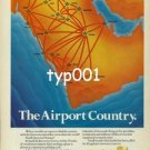 SAUDIA SAUDI ARABIAN AIRLINES - 1979 THE AIRPORT COUNTRY PRINT AD