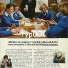 KLM - 1979 - STEWARDESSES TRAINED IN HUMAN RELATIONS PRINT AD