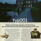 KLM - 1979 - YOU CAN STAY AT PRINCELY MANSIONS JUST LIKE CLARK GABLE PRINT AD