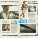 KLM - 1975 - CAPTAIN BOSSMAN WILL NEVER FINISH TRAINING PRINT AD