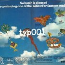 SWISSAIR - 1979 - FLYING KITES TO THE FAR EAST PRINT AD
