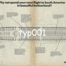 SWISSAIR - 1979 - DC-10 SEATING PLAN PRINT AD