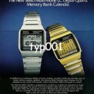 SEIKO - 1979 - MULTIMODE LC DIGITAL QUARTZ MEMORY BANK CALENDAR WATCH PRINT AD