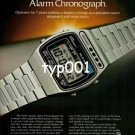 SEIKO - 1979 - SOLAR POWERED QUARTZ ALARM CHRONOGRAPH PRINT AD