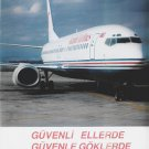 ISTANBUL AIRLINES - 1988 ADVERTISEMENT BOEING 737-400