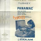 PAN AM - 1968 TRAVEL TALK TURKEY - PANAMAC COMPUTER SYSTEM - BROCHURE IN ENGLISH