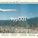 AIR FRANCE - 1976 - PARIS - CARACAS BY CONCORDE THE EASIEST 6 HR FLIGHT PRINT AD