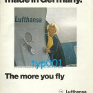 LUFTHANSA - 1975 - WELCOME TO A FLIGHT MADE IN GERMANY  PRINT AD