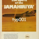 LIBYAN ARAB AIRLINES - 1980 - THE SPIRIT OF JEMAHIRIYAH PRINT AD