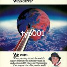 BRITISH AIRWAYS - 1980 - THE WORLD JUST A FLIGHT OF STEPS AWAY PRINT AD