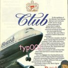 BRITISH AIRWAYS - 1980 - CLUB CLASS PRINT AD