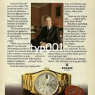 ROLEX - 1980 - FREDERICK FORSYTH THE NOVELIST PRINT AD -  ROLEX DAY DATE