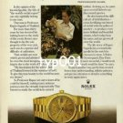 ROLEX - 1980 - PROF RAPEE SAGARIK AND HIS ORCHIDS PRINT AD