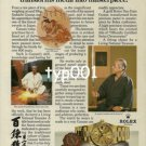 ROLEX - 1984 - SADAICHI GASSAN TRANSFORMS METAL INTO MASTERPIECE PRINT AD